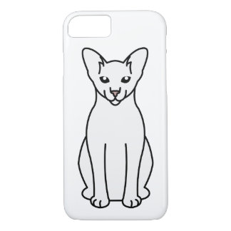 Oriental Foreign White Cat Cartoon iPhone 7 Case