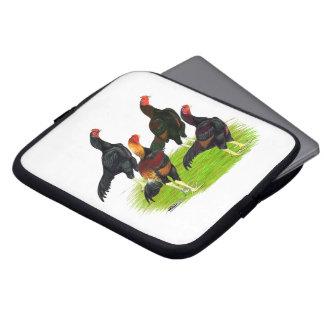Oriental Game Fowl Quartet Laptop Sleeve