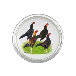 Oriental Game Fowl Quartet Photo Ring