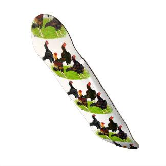 Oriental Game Fowl Quartet Skate Board Deck