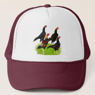 Oriental Game Fowl Quartet Trucker Hat