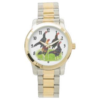 Oriental Game Fowl Quartet Wristwatch