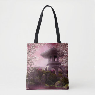 Oriental Garden All-Over-Print Tote Bag