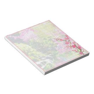 Oriental garden notepad