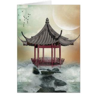 Oriental Gazebo Note Card