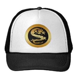 ORIENTAL GOLD DRAGON TRUCKER HAT