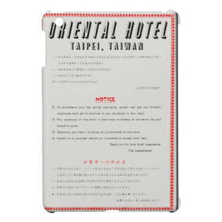 Oriental Hotel Rules Cover For The iPad Mini