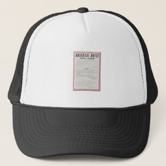 Oriental Hotel Rules Trucker Hat