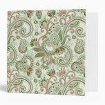 Oriental Iranian Paisley, Swirls - Green Pink