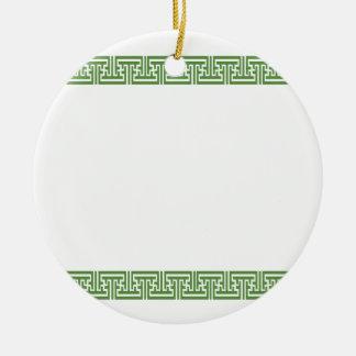Oriental Japanese Style Pattern Circle Ornament