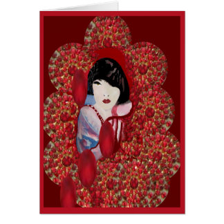 Oriental Jewel Blank Greeting Cards for Anyone