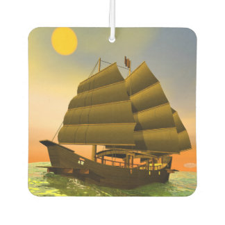 Oriental junk by sunset - 3D render Air Freshener