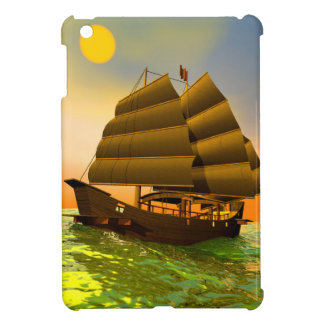 Oriental junk by sunset - 3D render Cover For The iPad Mini