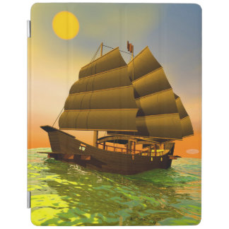 Oriental junk by sunset - 3D render iPad Cover
