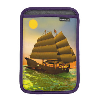 Oriental junk by sunset - 3D render iPad Mini Sleeves