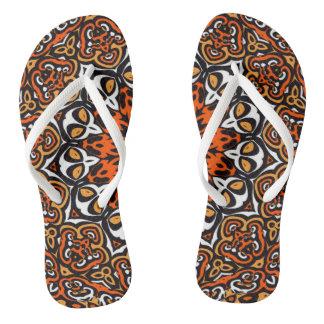 Oriental Kaleido 4 Flip Flops