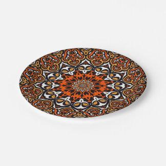 Oriental Kaleido 4 Paper Plate