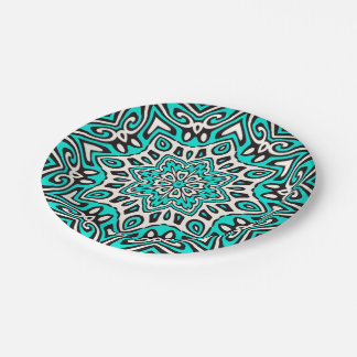 Oriental Kaleido 5 Paper Plate