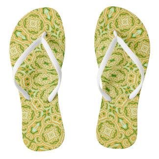Oriental Kaleido 7 Flip Flops