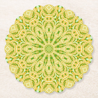 Oriental Kaleido 7 Paper Coaster