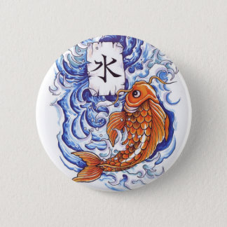oriental koi 2 inch round button