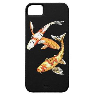 Oriental Koi Goldfish on Black iPhone 5 Case