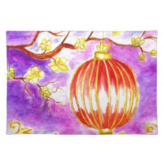 Oriental Lantern Art Placemat