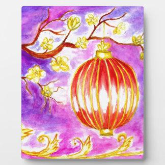 Oriental Lantern Art Plaque