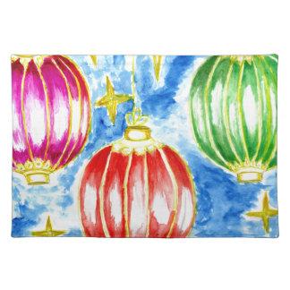 Oriental Lanterns Art Placemat