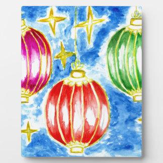 Oriental Lanterns Art Plaque