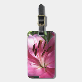 Oriental Lily Luggage Tag