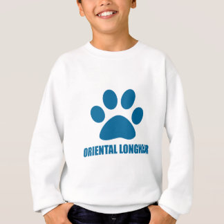 ORIENTAL LONGHAIR CAT DESIGNS SWEATSHIRT