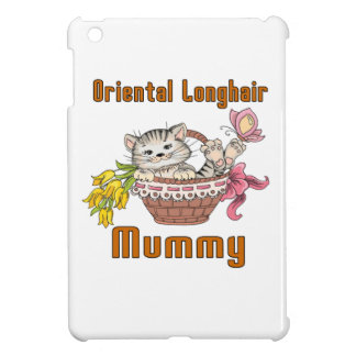 Oriental Longhair Cat Mom iPad Mini Cover