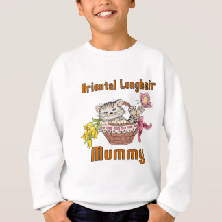Oriental Longhair Cat Mom Sweatshirt