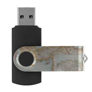 Oriental Mediterranean Map Swivel USB 2.0 Flash Drive