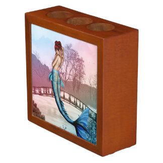 Oriental Mermaid Desk Organizer