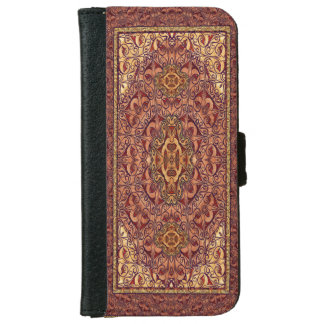 Oriental Persian Red Gold iPhone 6 Wallet Case
