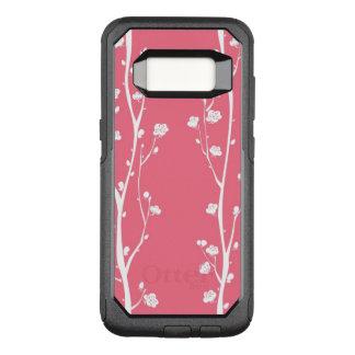 Oriental plum blossom pattern OtterBox commuter samsung galaxy s8 case