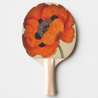 Oriental Poppy Flower Floral Paddle Ping-Pong Paddle