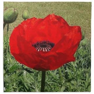 Oriental Poppy Napkin