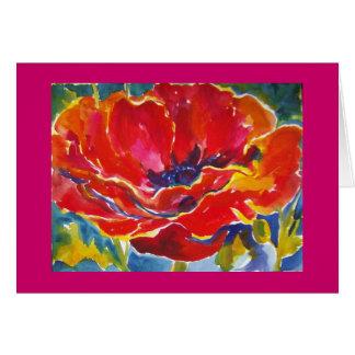Oriental Poppy Watercolor cArd