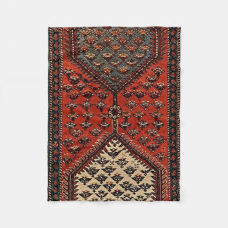 Oriental red runner pattern fleece blanket