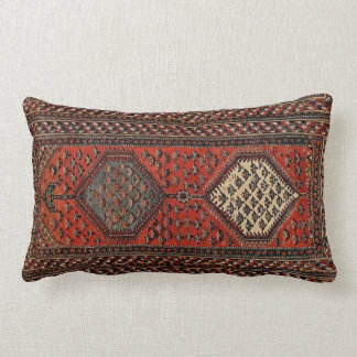 Oriental red runner pattern no2 lumbar pillow
