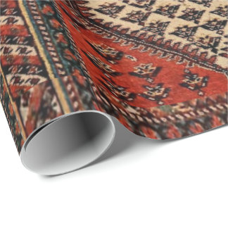 Oriental red runner pattern wrapping paper