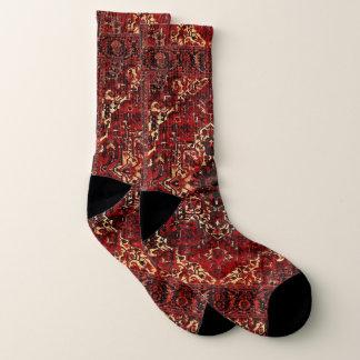 Oriental rug design in  dark red 1
