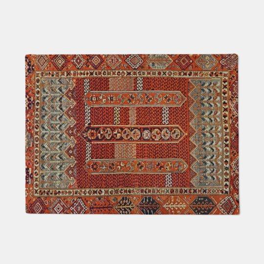 Oriental rug design in orange