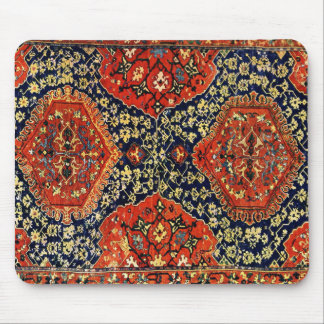 Oriental rug in blue&orange mouse pad