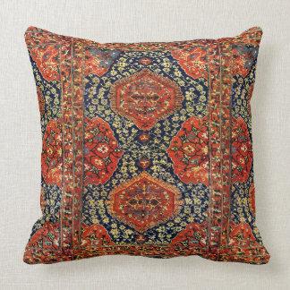 Oriental rug in blue&orange throw pillows