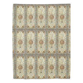 Oriental rug in light colors duvet cover