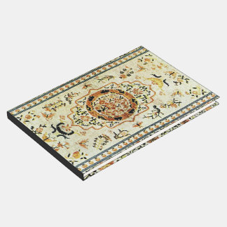 Oriental rug in light colors guest book